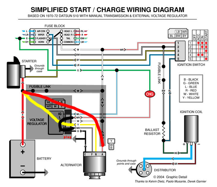 1970 Chevy Alternator Wiring Diagram - Wiring Solutions