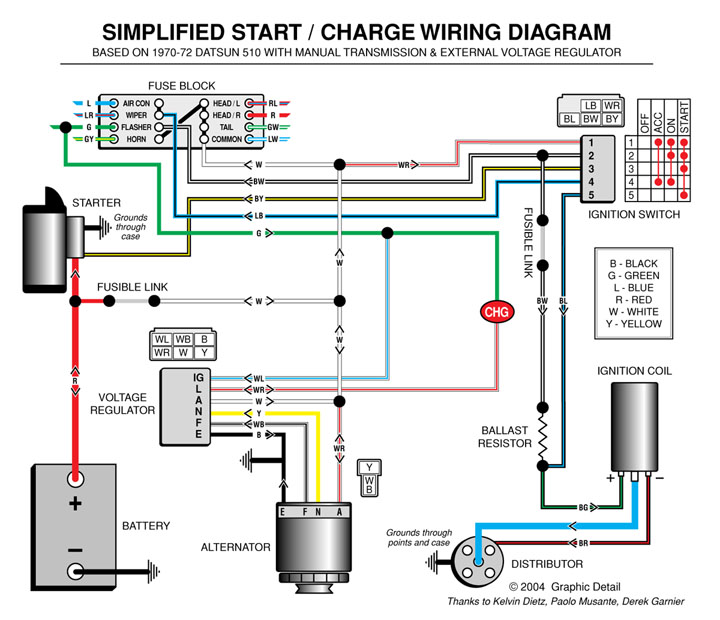 ka alternator and voltage regulator the 510 realm rh the510realm com delco alternator regulator wiring diagram delco alternator regulator wiring diagram